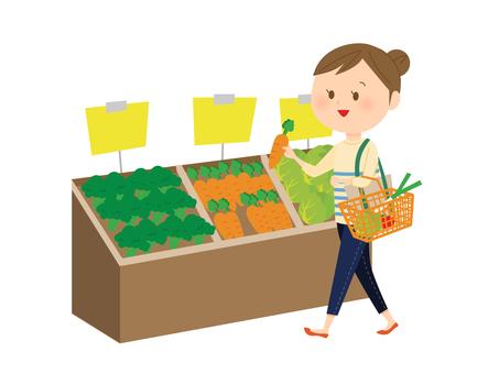 쇼핑중인 여성