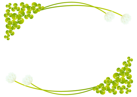 "Frame ""Clover and white clover"" -1"
