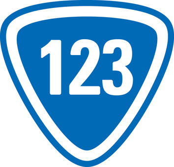 National highway 123 ☆ Road sign / icon ☆