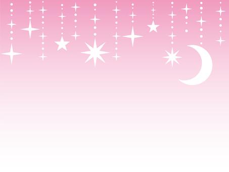 Moon pendant pink