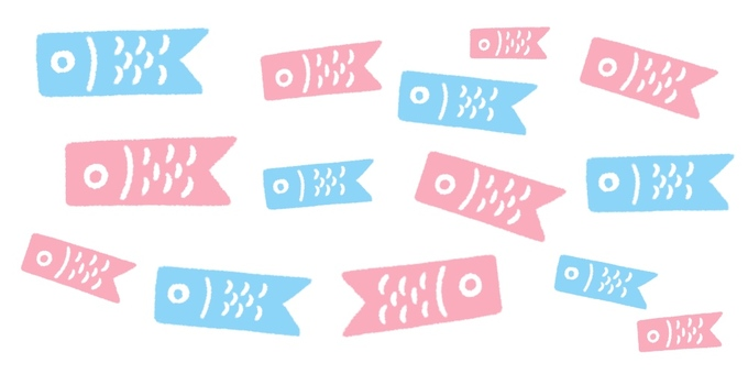 Fashionable carp streamer · cute hand-painted