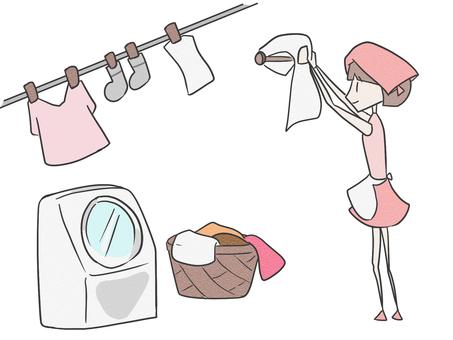 洗濯する人