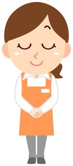 Apron clerk woman