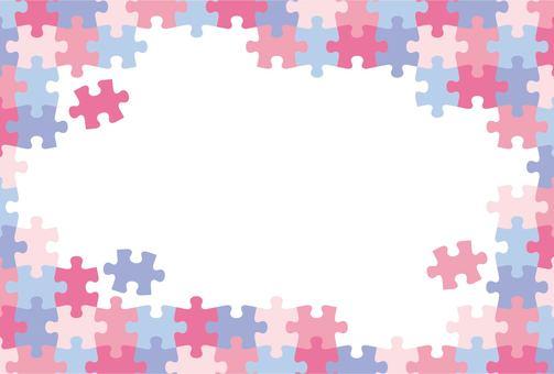 ジグソーパズル ピンク系