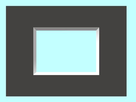 Matte frame black
