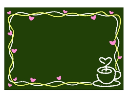 Cafe blackboard frame