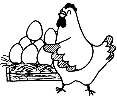 Boasting egg (black and white)