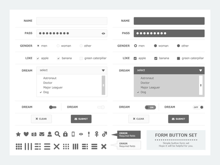 Form design set