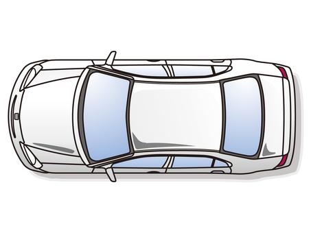 Car top view / Sedan