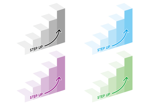 Abstract, stair step up illustration