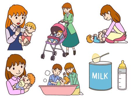 Parenting illustration set