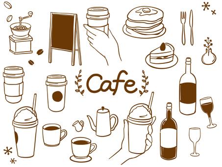 咖啡廳時尚手繪材料套裝2