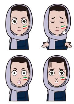 이란 대표팀 서포터 1
