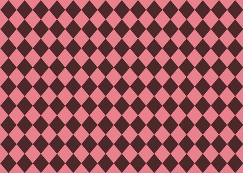 Diamond pattern background Brown × pink