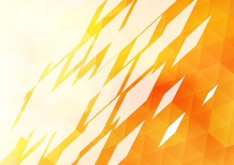 オレンジ色のポリゴンフレーム背景素材