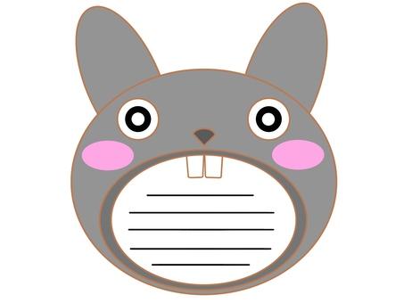 兔子的嘴巴灰色