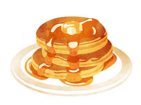 Cookery _ Confectionery _ Hot Cake _ Watercolor