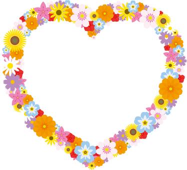Flower frame Heart