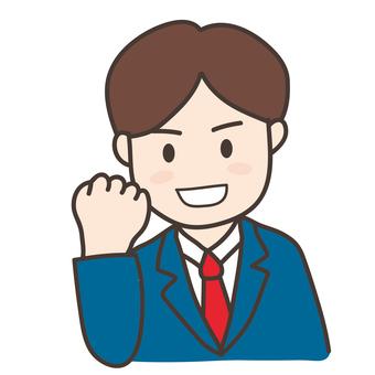 Guts pose _ Employee A