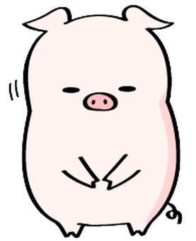 鞠躬的豬Yoshi