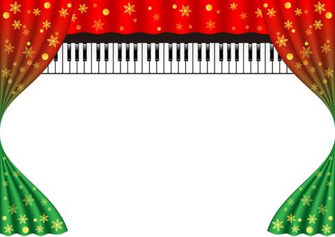 크리스마스 피아노 연주회 이미지 프레임