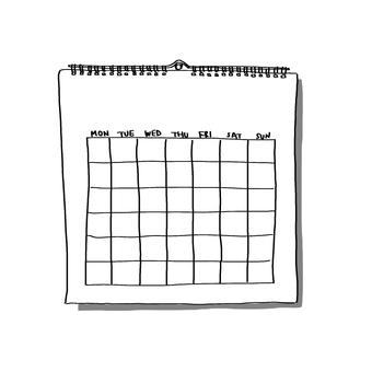 Wall hanging calendar <Monday beginning>