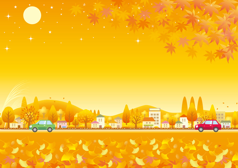 秋色風景とドライブ