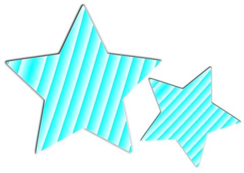 Striped light blue star