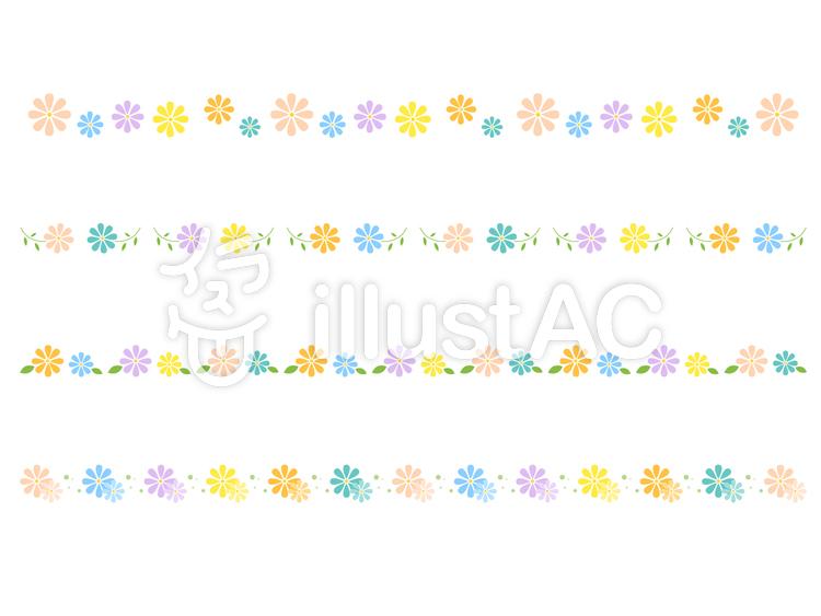 シンプルな花のラインイラスト No 168585無料イラストなら
