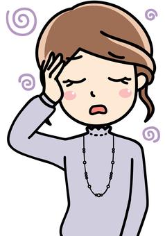 Women company employee OL - troubles, impatience, troubled