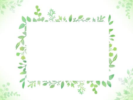 식물 수채화 풍 프레임 디자인 02