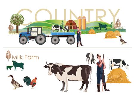 カントリーイメージ(milk farm)