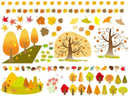 Autumn pattern - Various materials