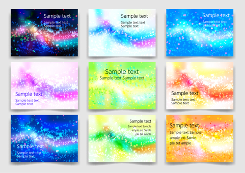 Colorful grad texture abstract background set