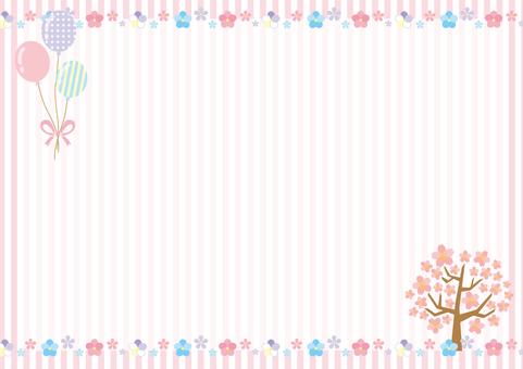 Spring Flower Frame 01