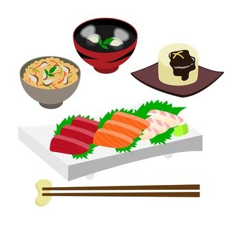 Japanese food of sashimi main