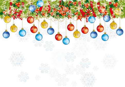 Christmas wreath & snow 29