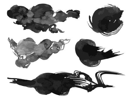 Ink brush material 02