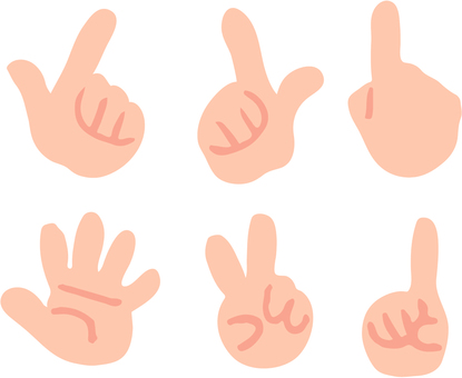 Six finger icons