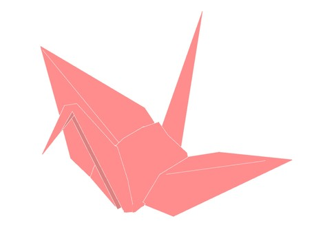 Crane folded crane red