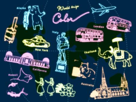 World Travel Summary 1 (Neon)