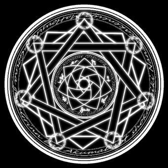 Magic circle (white line)