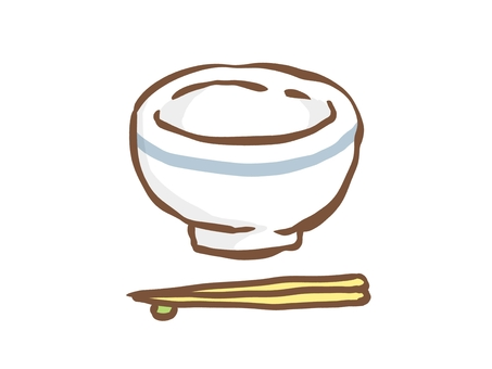 Tea bowl and chopsticks