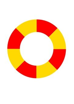 Floating wheel (red × yellow)