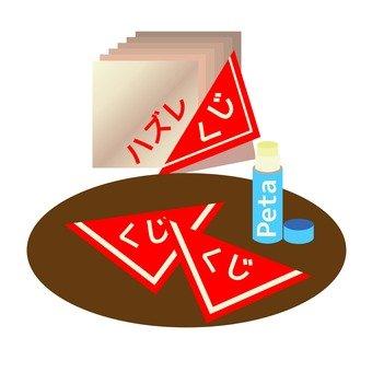 Stick paste of triangular lottery