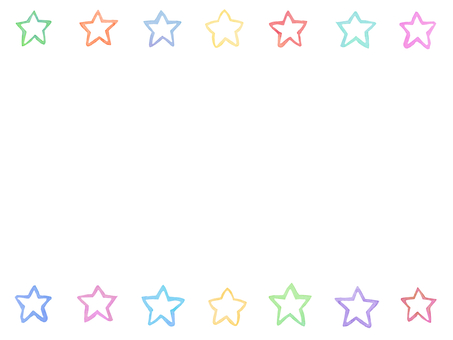 Water color star frame A1