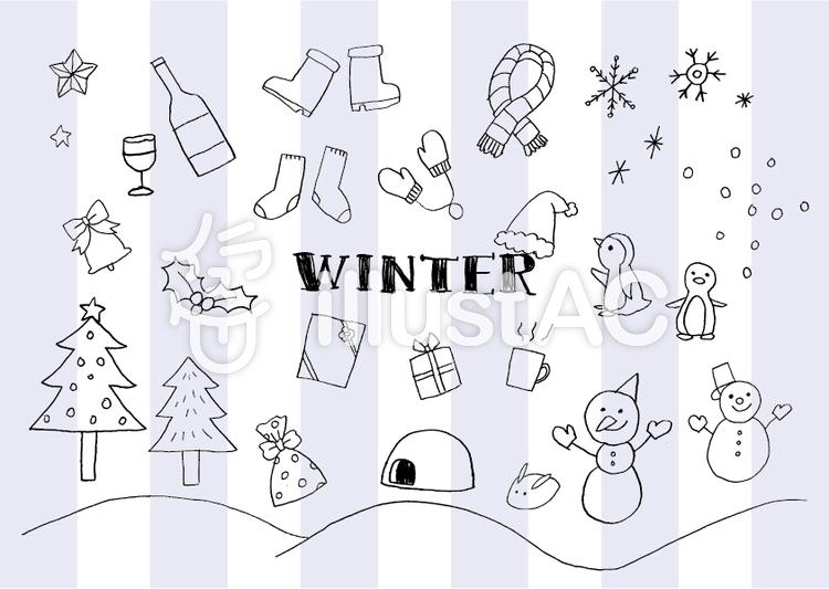 手書き冬イラストセットイラスト No 936991無料イラストなら