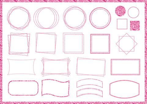 Pink frame set