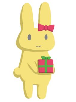 兔子禮物黃色