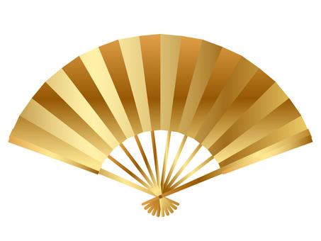 New Year material golden fan